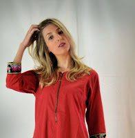 Ropa Etnica Vestido Rojo Bordados28229 5