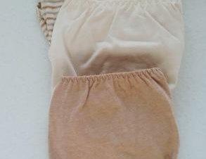 braga bikini algodon organico pack de 3 unds