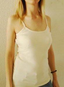 Camiseta Tirantes Color Crudo – Algodón Orgánico 30% Dto.