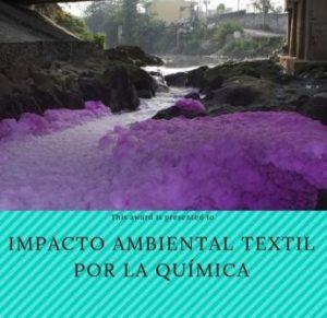 Contaminación de químicos en el textil