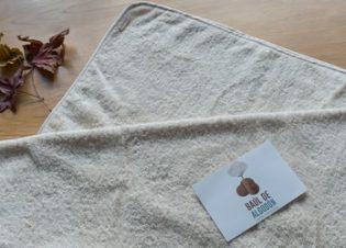 capa de baño con capucha bebe
