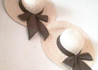 sombrero palma lazo marron 11523
