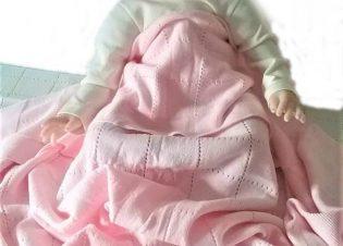 manta punto rosa para bebe 2 1 1 16 15